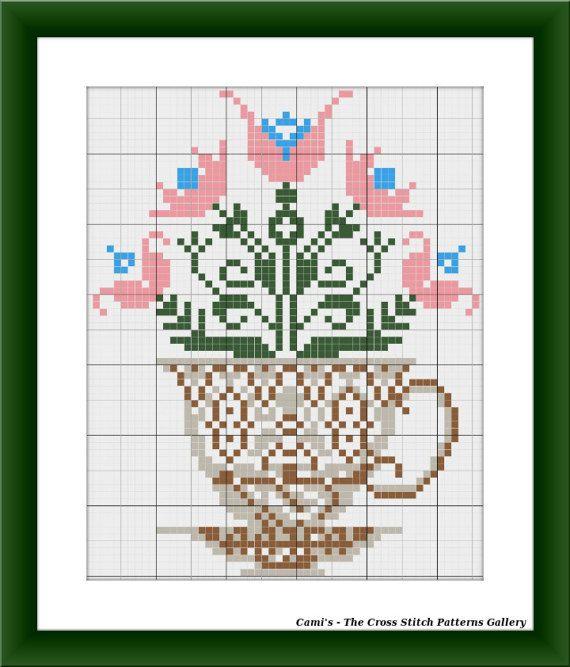 Coffee with flower aroma cross stitch by CamisTheCrossStitch