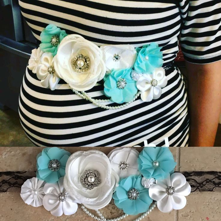 Baby shower belly sash DIY