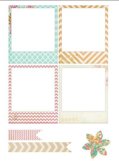 Free Printable Polaroid Style Frames {Spanish blog click on the sentence: Cinde Chuches Polaroids to download PDF}