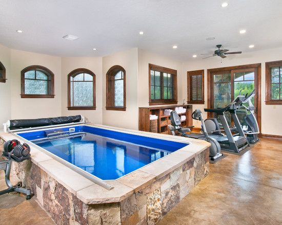 Home Gym Design, Pictures, Remodel, Decor and Ideas - page 9: Lap Pools, Ideas, Home Gyms, Dream House, Workout Room, Mountain Homes, Photo, Traditional Homes