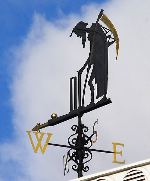 Old Father Time weather vane atop the Lords Cricket Ground in London