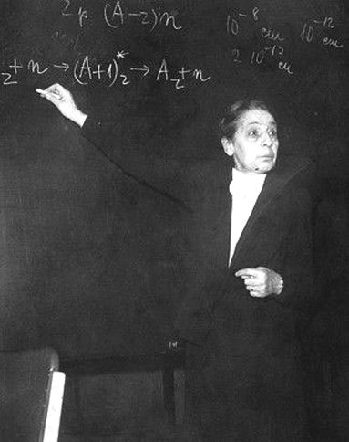 Lise Meitner, Austrian scientist, escaped from the Nazis to Sweden in 1938, and carried out  key calculations that led to the discovery of nuclear fission. Her collaborator, Otto Hahn, (who stayed behind in Germany), was the sole recipient of the 1944 Nobel Prize for chemistry. She was finally honoured In 1997, when element 109 was named Meitnerium