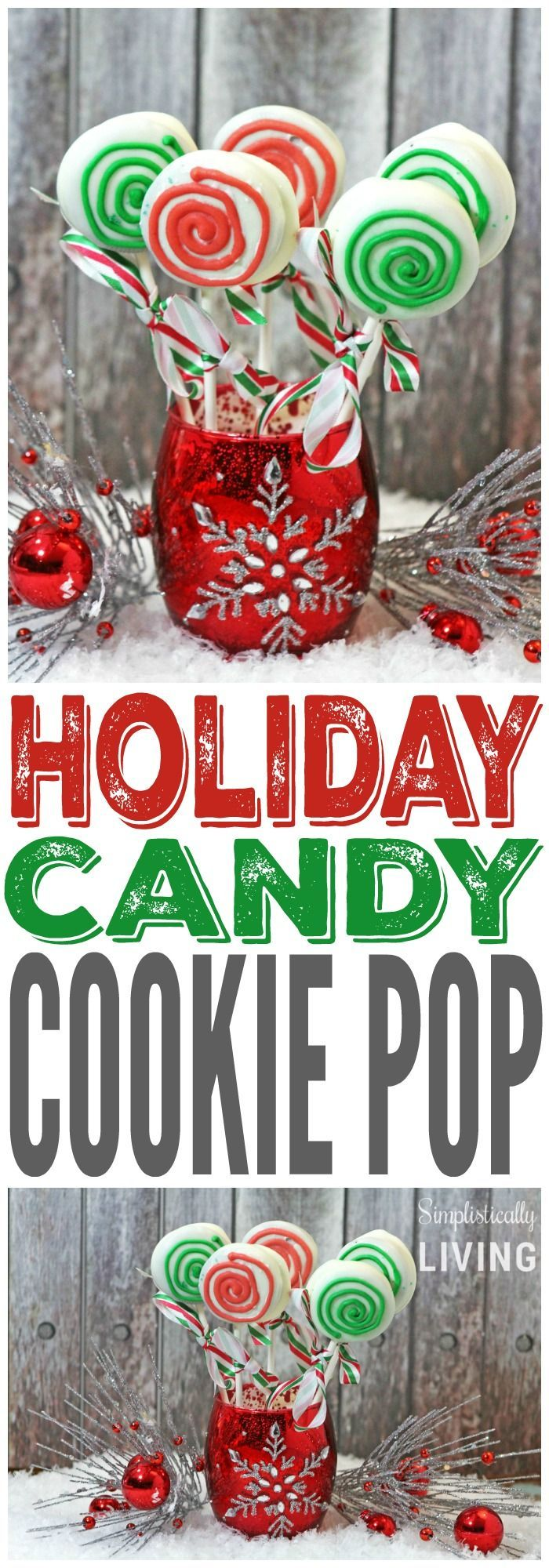 Holiday Candy Cookie pops | Simplistically Living - Featured at the #HomeMattersParty 66