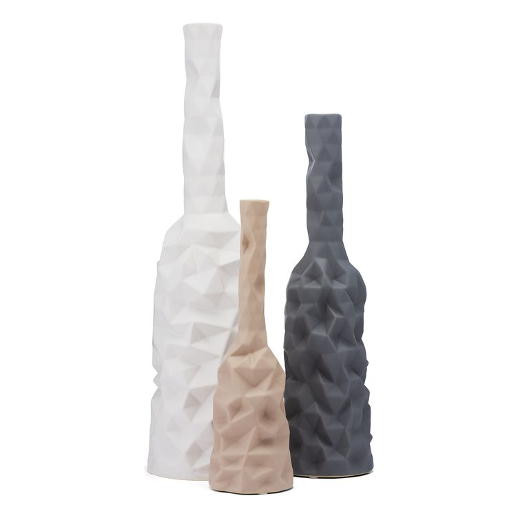 Cubista vases by Bolia design team. Inspired by the seasonal colour palette and geometrical shapes trend