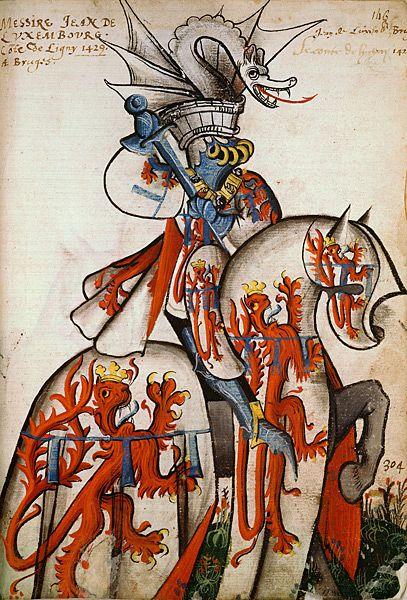 Inspiration ★ Jean de Luxembourg, Grand Armorial équestre de la Toison d'Or, Flandres, 1430-1461.
