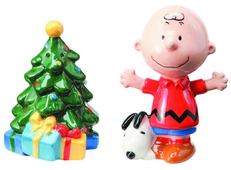 """Charlie Brown And Tree"" Salt and Pepper Shaker Set by Vandor"