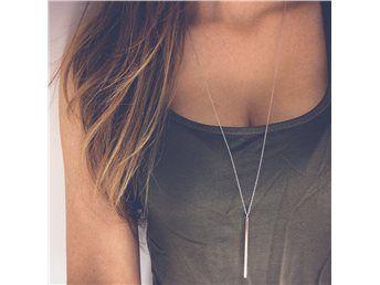 långt halsband silverstav