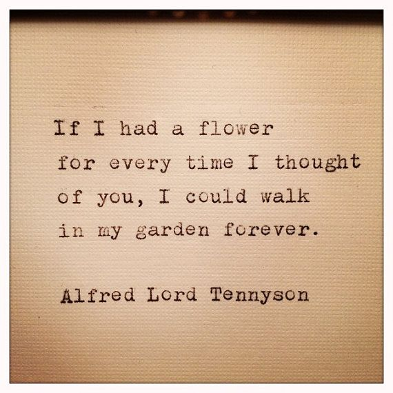 Alfred Lord Tennyson Love Quote Made on Typewriter and Framed