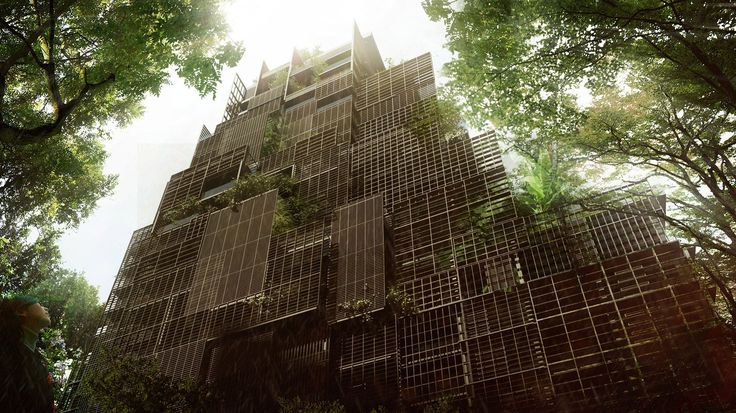 Jean Nouvel has released new renderings for a plant-covered luxury hotel adjoining a former hospital in São Paulo, with interiors by Philippe Starck