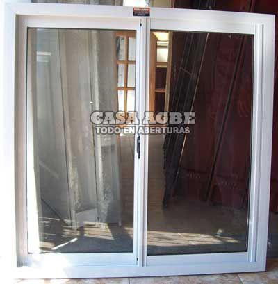 ventana aluminio blanco vidrio entero x con vidrio