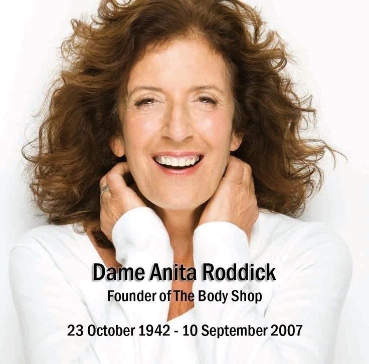 anita roddick the body shop commerce essay Bullet point 4 essay plan  dame anita roddick: activist background meant that the body shop was always going to be relatively responsible.