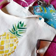 tote bag ananas brodé DIY jour de pluie shop it yourself