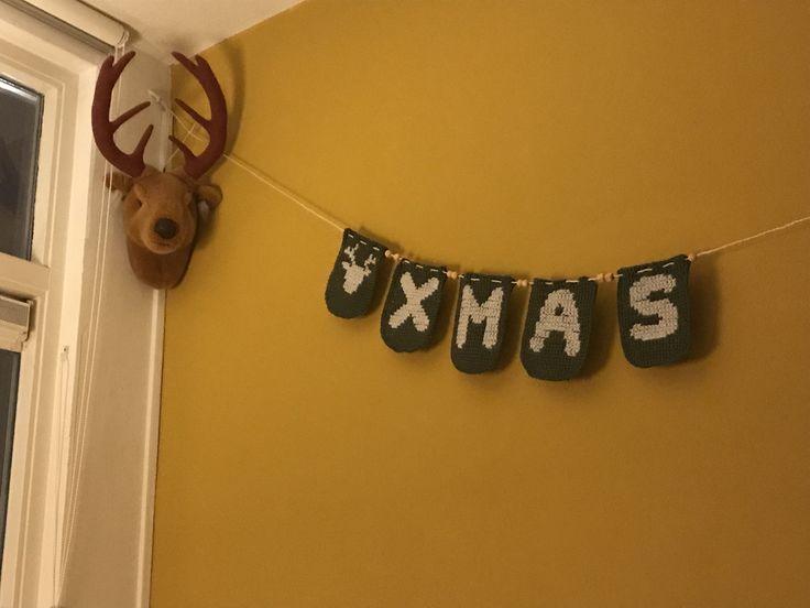 Home Made kerstslinger. Patroon via jufsas.com