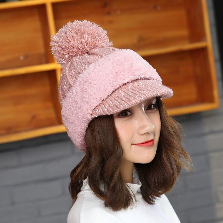 AliExpress.com Product - Riding Mask Motorcycle Thicker Winter Women Hat Caps for Women Knit Beanies Hat Warm Cap Hat Bonnet Gorro Balaclava Beanies Mask