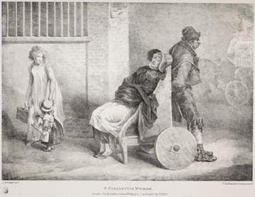 Paralytic woman in wheelchair, 1821. Image @⸬ e m e r e y ⸬ barbara moffett of London
