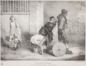 Paralytic woman in wheelchair, 1821. Image @⸬ e m e r e y ⸬ barbara moffett of London