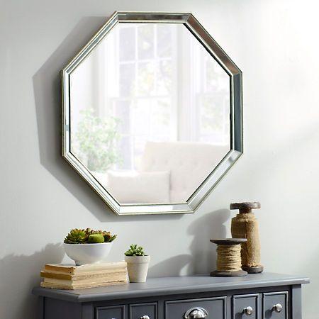 monet frameless octagon mirror 265x265 decorative