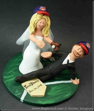 Baseball Players Wedding Cake Topper Your Safe