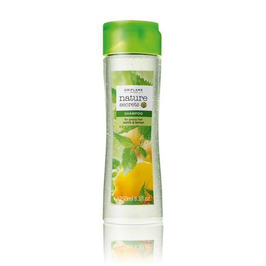 Šampón pro mastné vlasy s kopřivou a citrónem Nature Secrets