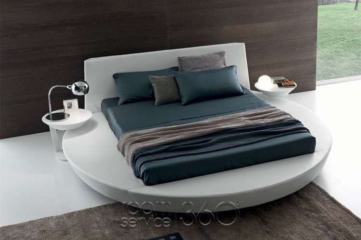 Zero Round Bed. Contemporary Italian Furniture available through Selene www.selenefurniture.com