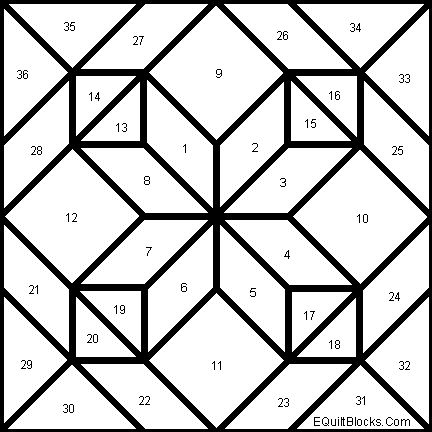 amish diamond in a square quilt pattern | all kinds all squared up all those squares all ways