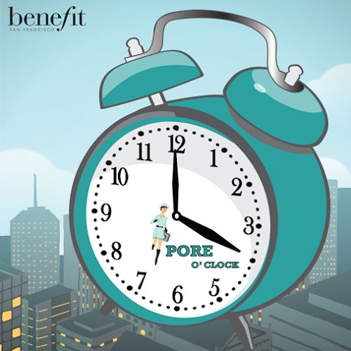 Join the Benefit Cosmetics #poreoclock revolution and win a Benefit bash in your region!!
