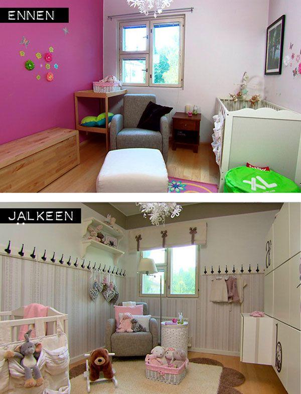 Vauvanhuoneen muutos #vauvanhuone #babyroom #baby #romanttinen #hempeä #maalaisromanttinen