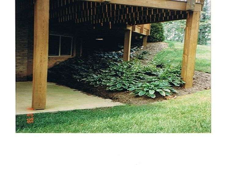 slope under deck | Under Decks - Quinn's Landscaping & Lawn Service | Quinn's ...