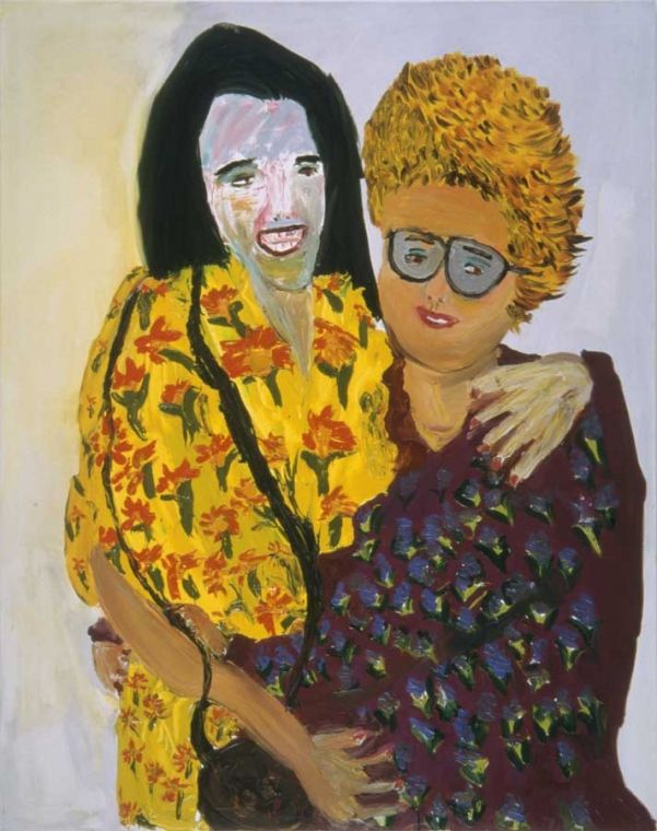Martin Maloney, Over Exposed, 1999. Oil paint on canvas. I chose this picture because the subject matter of painting is two women smiling. Also the background of the picture is a light color, giving it a happier feel.