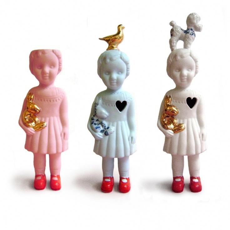 """Ceramic Doll """"Pigeon"""" by Lammers en Lammers"""