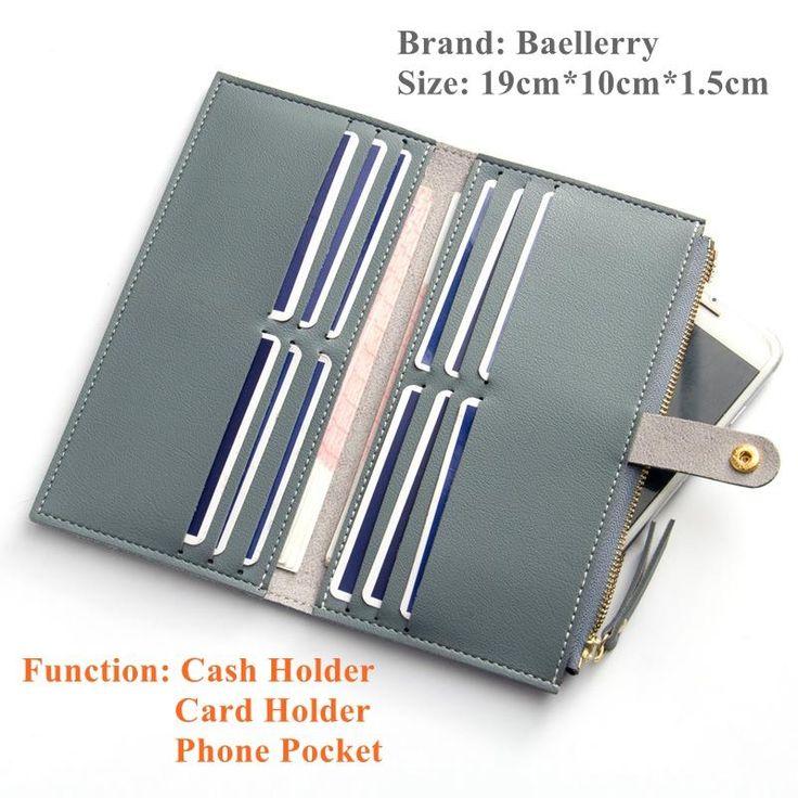 Baellerry Women Wallets Fashion Leather Wallet Female Purse Women Clutch Wallets Money Bag Ladies Card Holder WWS049