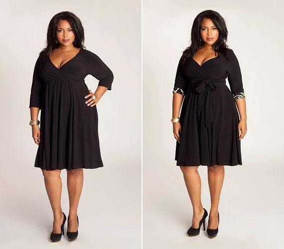 A klasszikus kis fekete ruhák midi fazonban is szupernőiesek.