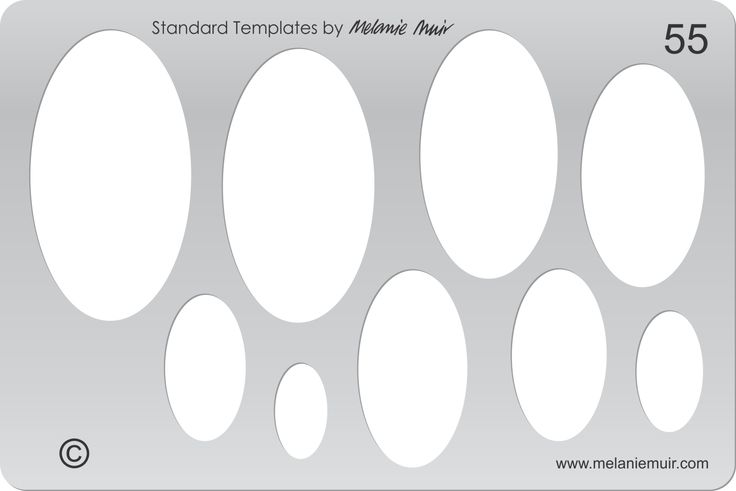 Acrylic template No. 55. Perfect for creating a wide variety of polymer, metal or clay bracelet, necklace, pendant and earring designs.