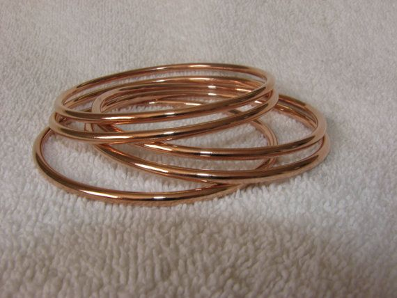 Rose Gold Bangles Rose Gold Plated Bangles by MYROSEGOLDS #rosegold #rosegoldbangle #bangles #bracelets