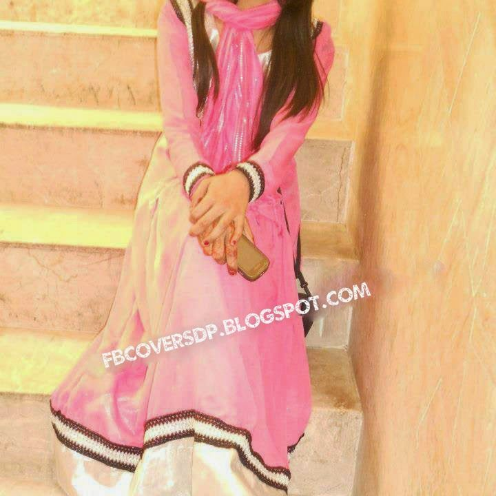 Sad Boy Alone Quotes: Stylish Girl In Pink Shalwar Kameez Dp For Fb