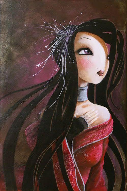 """""""Larme de lune"""" par Misstigri (Valérie Moigne) artiste française."""