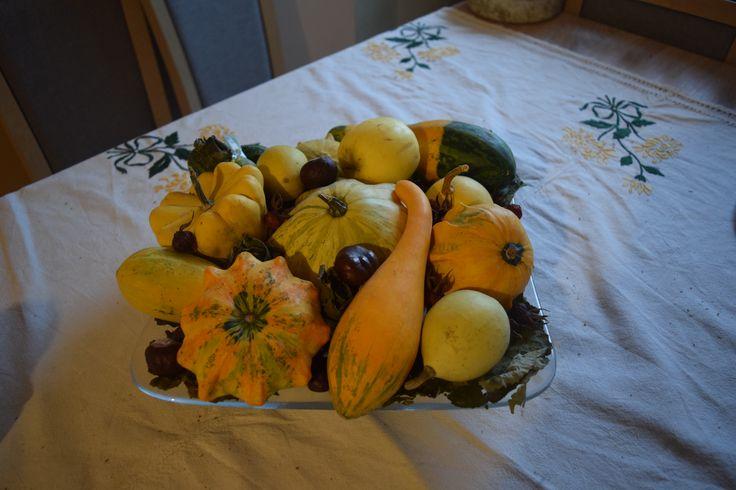 őszi asztaldísz
