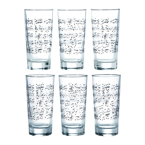 GODIS MIX Glass IKEA ... a cute and inexpensive gift for a music lover. At this price, buy two packs and make it a dozen glasses for a nice complete set for small gatherings.