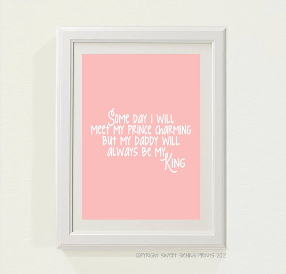 Pink Daddy's my King Nursery decor baby by SweetSiennaPrints, $18.00