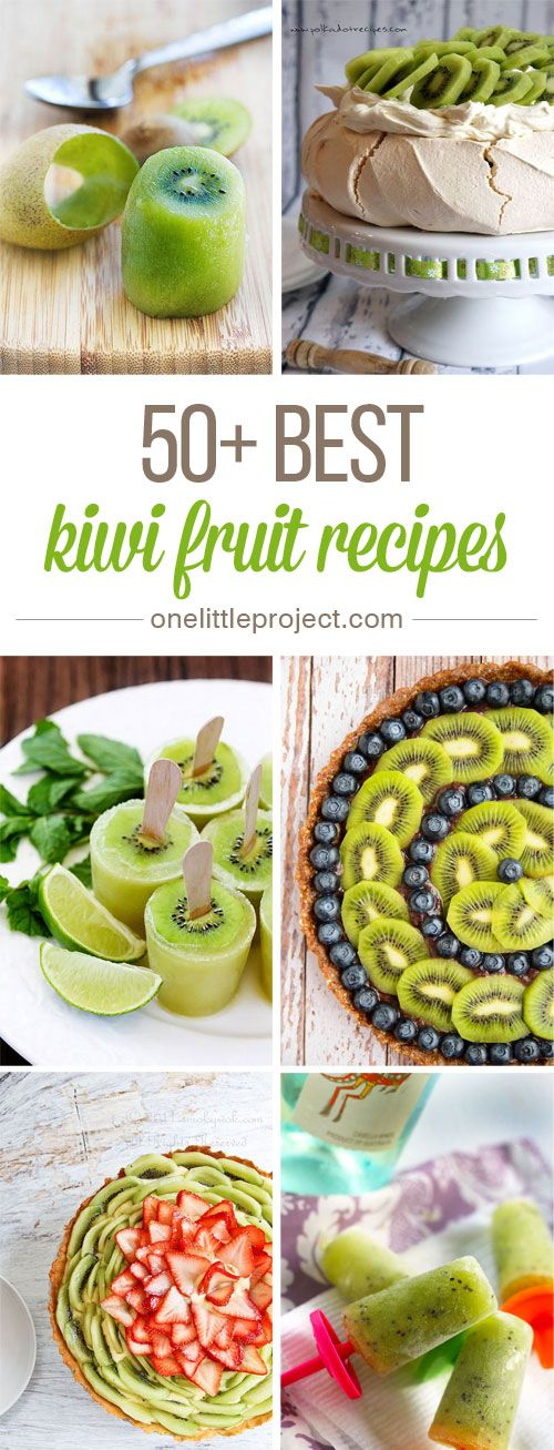 50+ Best Kiwi Recipes - I had no idea there were so many awesome kiwi recipes! These look AMAZING!