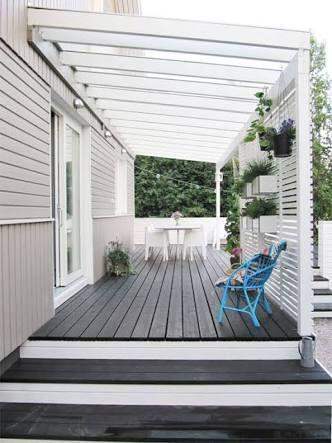 Image result for deck stain white pergola