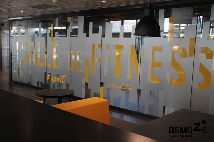 Signalétique murale >Hôtel Kyriad > Salle Fitness > Paris Bercy