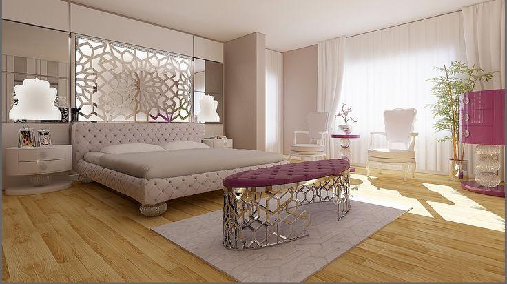 yatak odası dekorasyonu / duvar