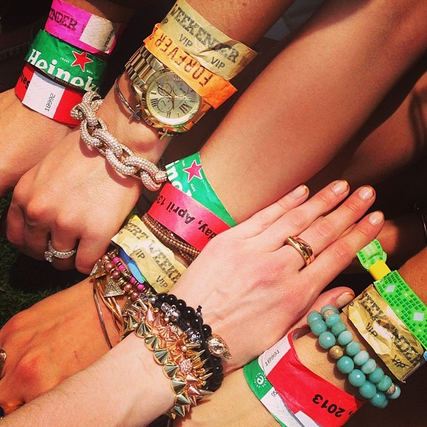 festival wrist bands, every colour you could imagine