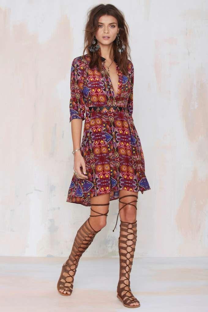 Carolina K Karen Silk Dress - Day   Fit-n-Flare: