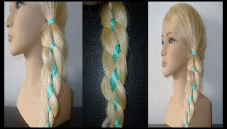 Hairstyles for the school: 4 strands braid braid.For BEGINNERS.4 … | Hairstyles Tutorials