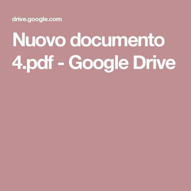 Nuovo documento 4.pdf - Google Drive