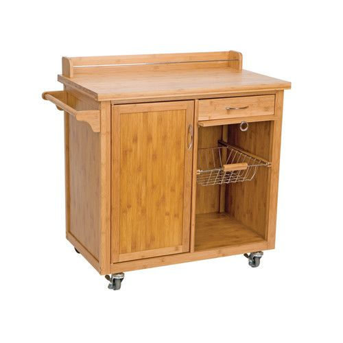 Ethos anglia bamboo kitchen trolley with cabinet and two drawers kitchen pinterest - Kitchen cabinets trolleys pictures ...