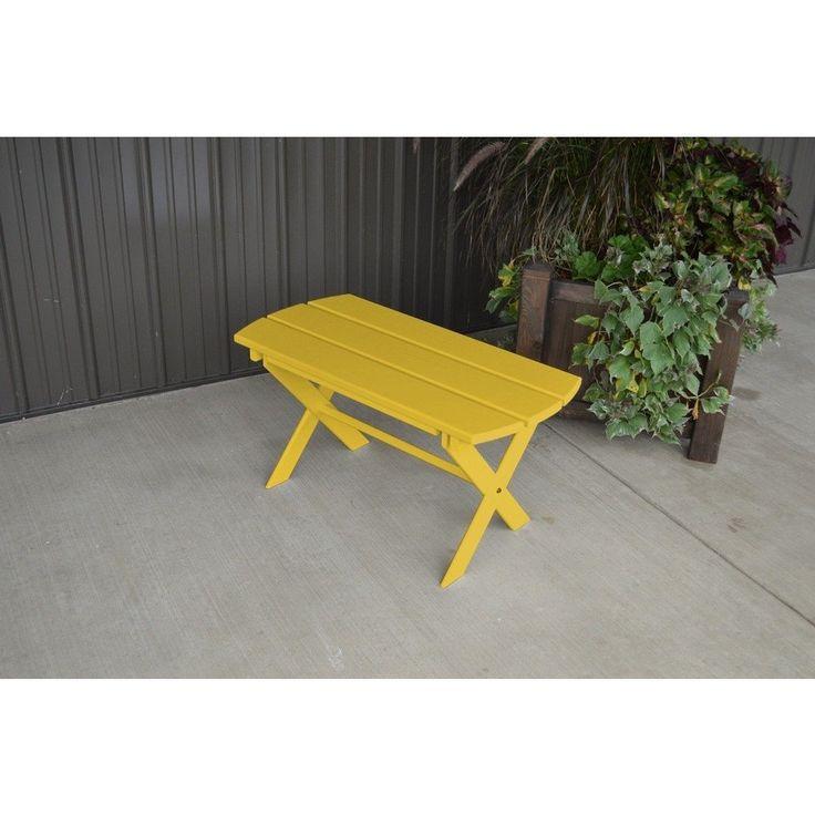Yellow Pine Folding Coffee Table