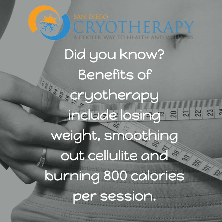 If you have weight loss goals, we can help! #cryotherapy #SanDiego #weightlossgoals